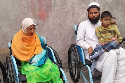 Wheel Chair Distribution in Hajira
