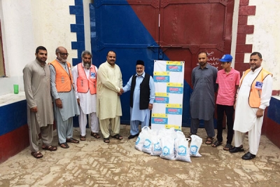 Alkhidmat distributed meat to prisoners in Mirpur Jail