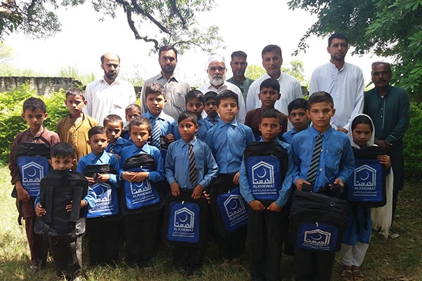 Books and Bags distribution in Bhimber
